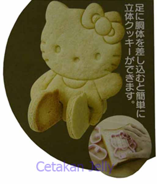 Cetakan Cookies Hello Kitty Bread Amp Cookie Cutter 3d